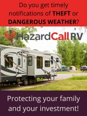 Have your RV text you if it is being stolen or approaching dangerous weather!